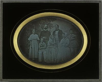Portrait de la famille Eynard, Jean-Gabriel et Anna, Charles et Sophie, Hilda, Gabriel et Féodor