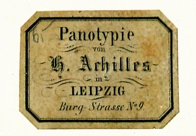 Etikett von H. Achilles