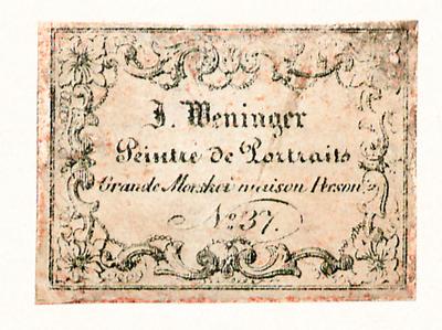 Zwei Etiketten von J. Weninger