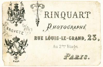 Etikett von Rinquart
