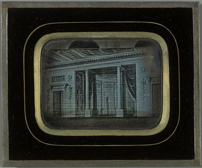 Décor de théâtre Sanquirico, toile peinte