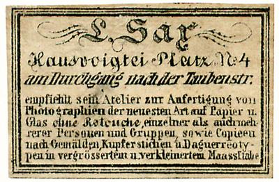 Etikett von L. Sax