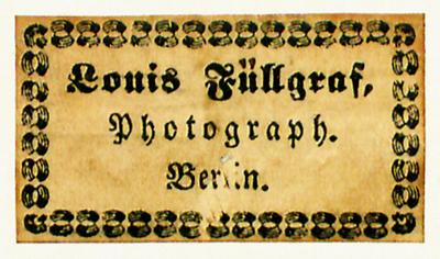 Etikett von Louis Füllgraf