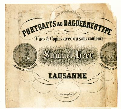 Etikett von Samuel Heer