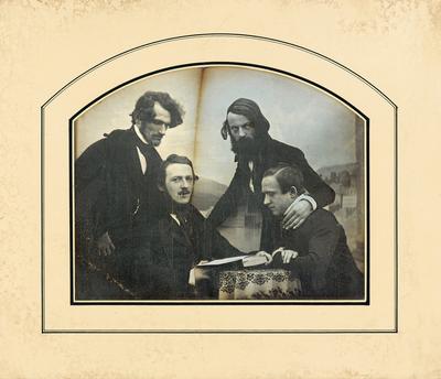 [Gruppenbild mit vier jungen Männern]