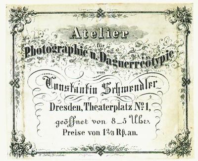 Etikett von Constantin Schwendler