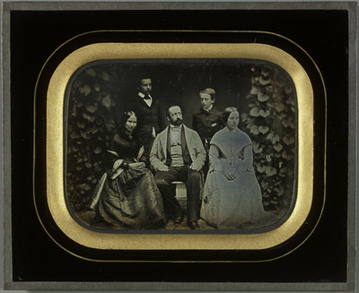Portraits de Charles et Sophie Eynard et de leurs trois enfants Gabriel, Féodor et Hilda