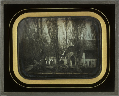 Beaulieu (VD), la cour de la propriété de la famille Eynard
