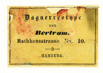 Etikett von Franz Bertram