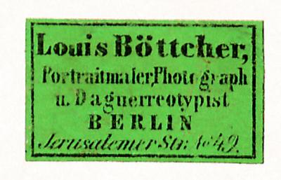 Etikett von Louis Böttcher