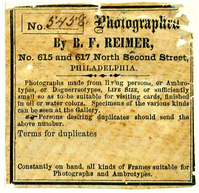 Etikett von B. F. Reimer