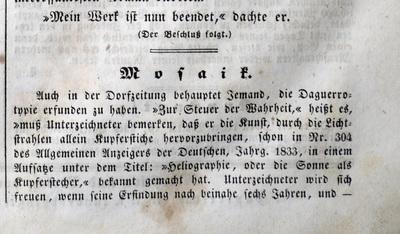Zur Steuer der Wahrheit, behauptet Jemand die Daguerreotypie erfunden zu haben