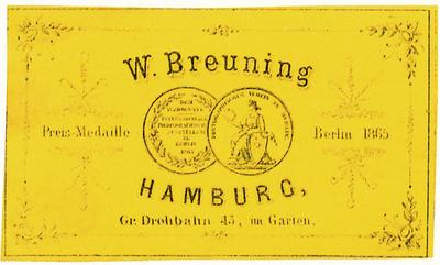Etikett von W. Breuning