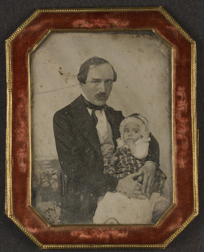portrait of a man with a child