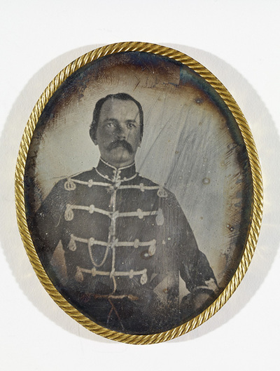 Portrait of unknown officer. (Case missing, returned to the owner.)