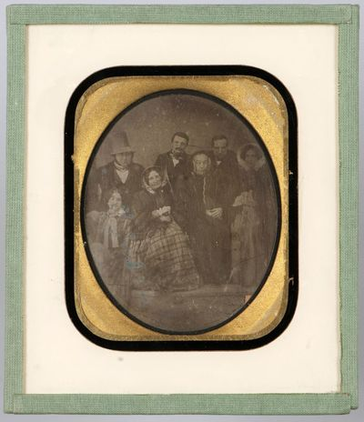 Group portrait - seven people, possibly aristocrats