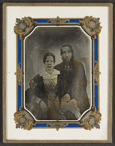 Portrait of a couple. Creator unknown, undated.