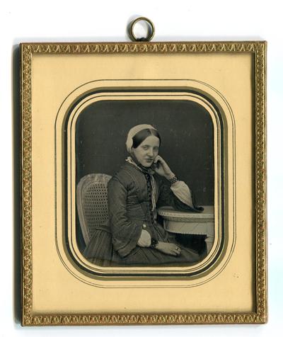 [Porträt einer Herrnhuter Schwester, vermutlich Hermine Schütz, geb. Wauer (1818-1898)]