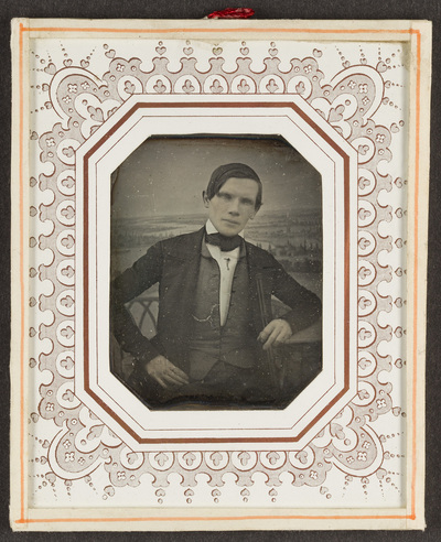 Portrait of unknown man. Creator unknown, undated.