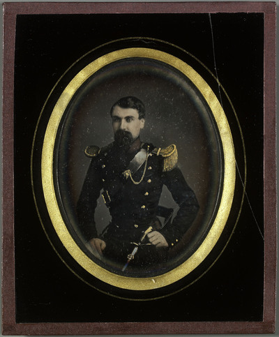 Portrait d'Aloïs Diodati. Colorié à la main.