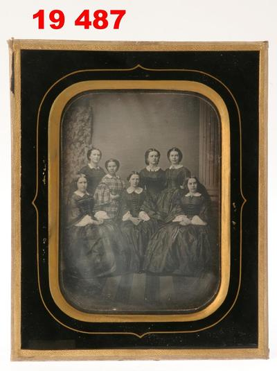 Daguerreotype of a group of women