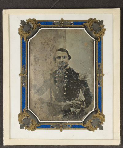 Portrait of unknown officer. Creator unknown, undated.