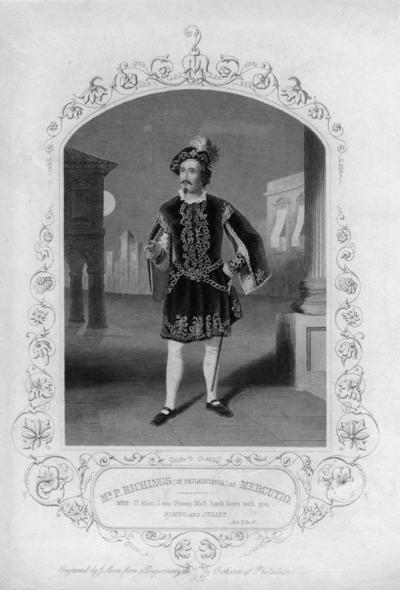 Mr. P. Richings (of Philadelphia) as Mercutio.