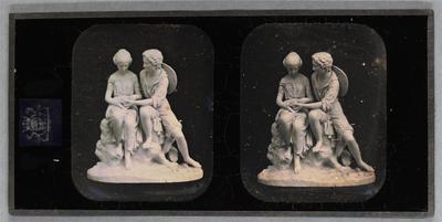 France. Daguerréotype stéréoscopique, 6,9 x 5,6 cm (chaque image). Daguerréotype stéréoscopique d'une sculpture de Charles Cumberworth (1811-1852), qui s'est notamment illustré dans la production de sculptures d'éditions.