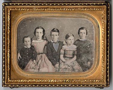 Portrait of five children