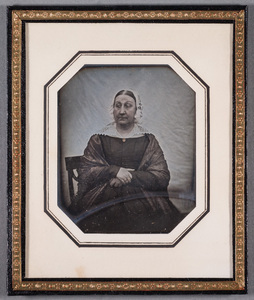 Portrait of older unknown woman, tinted.