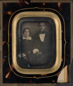 Portait of a seated couple