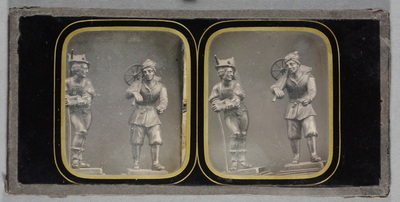 Collection of ten stereo daguerreotypes in original box by Carpenter and Westley, 24 Regent Steet, London, whose mark is stamped on the sliding lid of a polished wooden box. Attributed to T R Williams