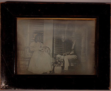 Husband and wife/Richard Trott Fisher and Augusta, his wife, June 1840, Mitcham by Sir John Lubbock afterwards Lord Avebury