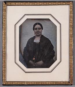 Portrait of Charlotta Amalia (b.Favorin?) Lundström (1816-1866), tinted.