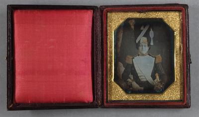 Etats-Unis. Daguerréotype coloré, 1/6 de plaque, 6,6 x 5,5 cm