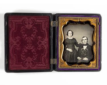 portrait of a couple woman man