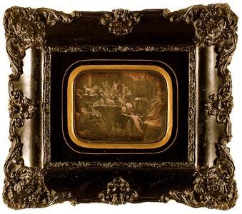Dimensions (tout): 9,8 x 13,5 cm 25,5 x 29,5 cm (avec cadre)