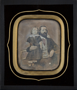 Portrait of father with child