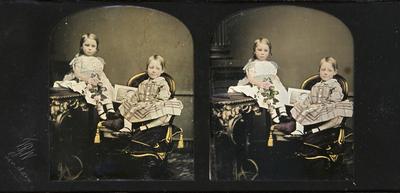 Coloured and Handsigned daguerreotype