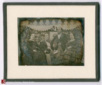 Da sinistra a destra 1) Maria Chioffi in chioffi Luigi 2) Avvocato Prospero Chioffi 3) Giovanni Chioffi 4) Carolina Chioffi in Cafarri Romualdo
