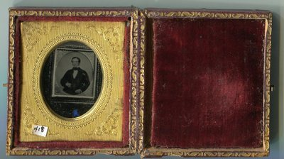 Ambrotype copy of a daguerreotype.