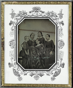Rosa Säve, b. Snellman  (Åbo 26.3. 1814 - 1874) with her four children, Gunnar, Inga, Thilda and Mirjam. Rosa Säve was a relative of C.G. Mannerheim.