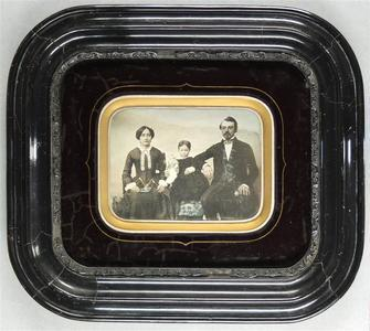 France. Daguerreotype coloré, 1/2 plaque, 8,7 x 13 cm
