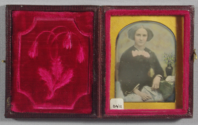 Accompanied by a miniature on ivory painted by Henry Tilbury, and dated 1852, copied from the daguerreotype.
