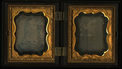 Union case catalogued in the publication by Paul K.Berg Nineteenth Century Photographic Cases  and Wall Frames, 2003, p. 271 n. 3-303  as Geometric