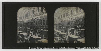 Exposition universelle de 1855, intérieur du Palais de l'Industrie, actuel 8ème arrondissement