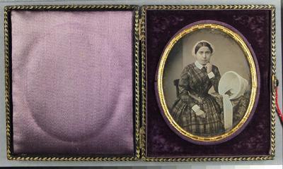 Etats-Unis. Daguerréotype, 1/6 de plaque, 7,3 x 6 cm