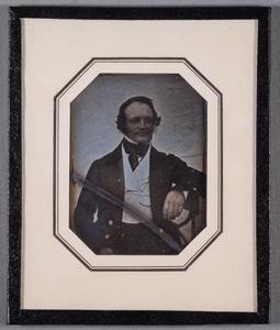 Portrait of Anders Wilhelm Lundström (1804-1872), colored details.