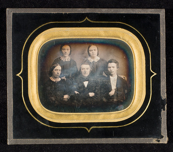 Portrait of five persons, two men and three women.