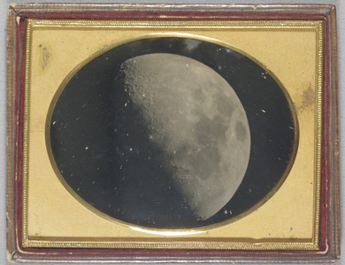 Image of the first quarter of the moon. By John Adams Whipple